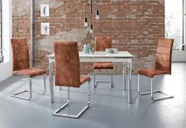 essgruppe nelson cosy set 5 tlg mit 4 stühlen tisch ausziehbar breite 140 200 cm