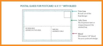 Postcard Template Standard Size Usps Layout