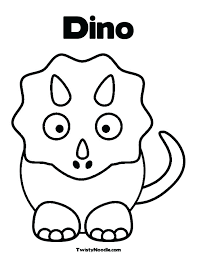Full Image For Free Printable Baby Dinosaur Coloring Pages Preschoolers