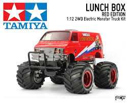 100 Monster Truck Lunch Box Details About TAMIYA 112 LUNCH BOX RED EDITION 2WD OffRoad Van Kit TAM47402