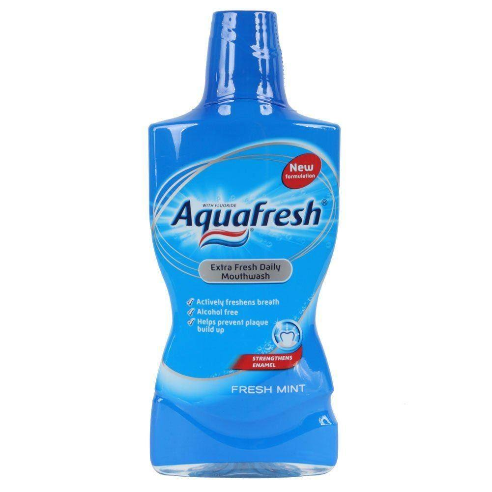 Aquafresh Daily Extra Fresh Mouthwash - Fresh Mint, 500ml