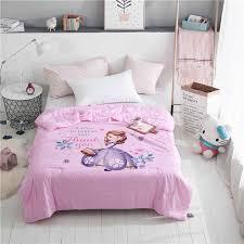 disney rosa sofia prinzessin decke für bett königin größe sommer quilt baby mädchen schlafzimmer decor werfen decke 3d reaktiven drucken