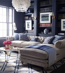 can you believe it s horchow navy walls built ins and living rooms