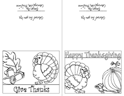 Color Your Own Thanksgiving Cards Set Of Two Instant