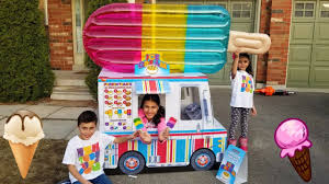 100 Ice Cream Truck Party Kids Pretend Play With Food Toys YouTube