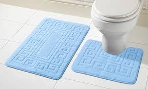 2 tlg antirutsch bad garnitur für badezimmer badematten