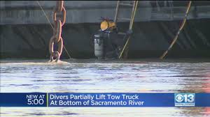 100 Two Men And A Truck Sacramento Dive Crews Work On Tow On Bottom Of River CBS