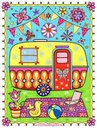 Art From Thaneeya McArdles Happy Campers Coloring Book Amazon