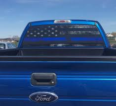 Thin Blue Line Rear Window Graphic Perf Decal From DigitalRhinoWraps ... Toyota Tacoma American Flag Rear Window Decal 2016 Importequipment Window Graphics Digital Print On Perforated Vinyl With Custom Pickup Truck Graphics Best Decals In Calgary For Trucks Cars Car Allen Signs Ford Logo 2018 Idelca Shop Between Armstrong And Vernon Bc Vehicle Signcraft Huntsville Parry Sound North Bay Skulls Xtreme Digital Graphix Beach Sunset 4 Ocean Graphic Suv Van Ebay Jeep Stickers Funny Wrangler