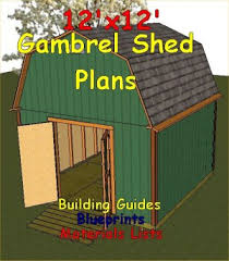 12x12 Storage Shed Plans Free by 12x12 Gambrel Roof Shed Plans Barn Shed Plans Small Barn Plans