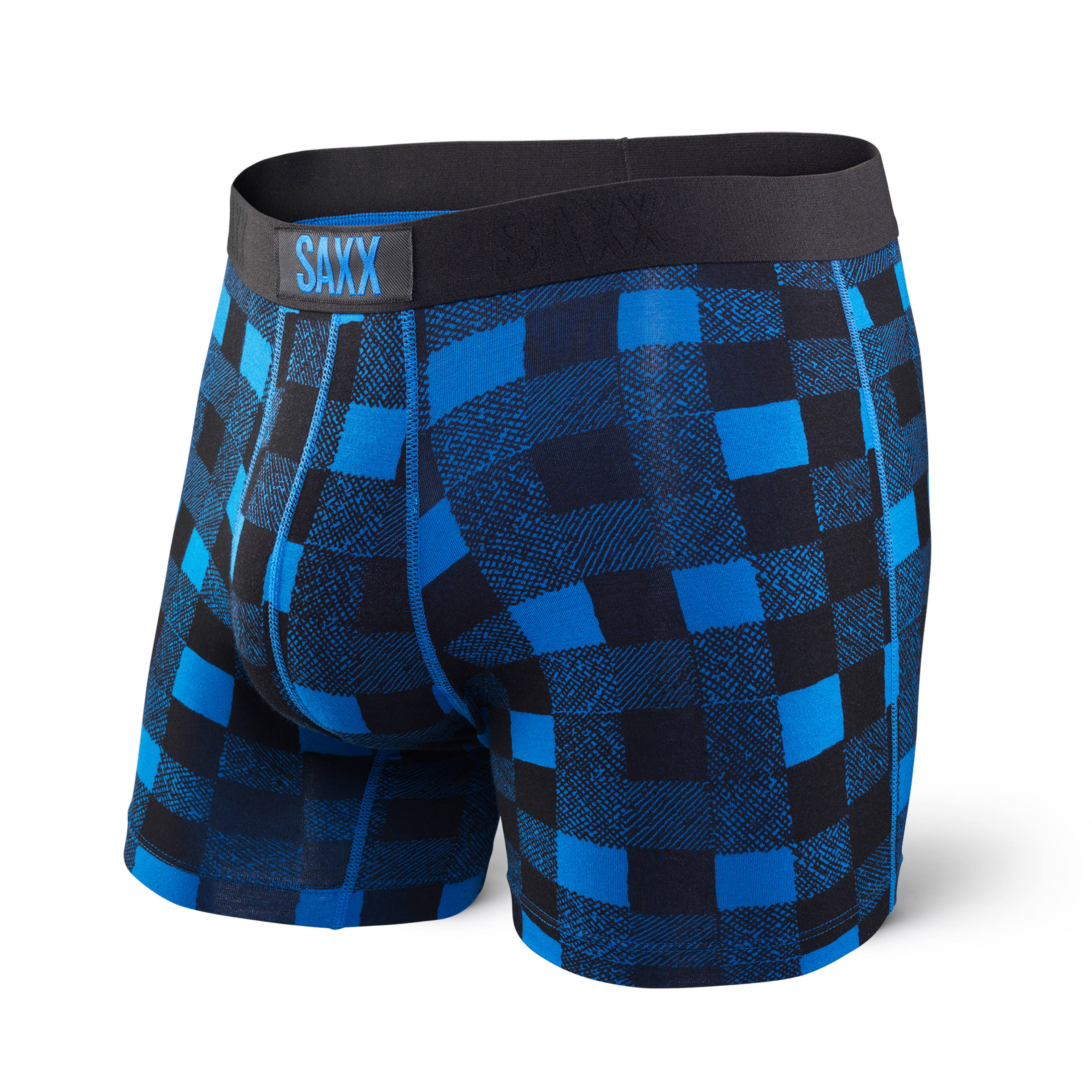 Saxx Vibe Boxer Modern Fit / Royal Lumberjack Plaid / Small