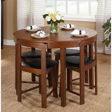 100 Round Oak Kitchen Table And Chairs 5 Piece Dining Set Wood Room 4 Compact