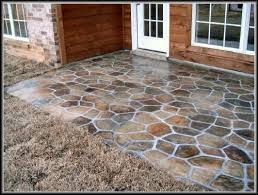 Painted concrete patio