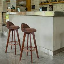 Set Of 2/4 Wooden Swivel Low Back Revolving Bar Stools Counter Dining Pub  Chair Why We Dont Sell Suar Wood Ding Room Chair Wooden Chairs Buy Chair Remarkable Oak Bar Stools With Backs Premium Padded Rumba Side Chair 400 15 Inexpensive That Look Cheap Amazoncom Muju 30 Low Back Metal With Kitchen Arms High Living Fniture Muji Wikipedia Outstanding Counter Height 21 Comfortable Modern For Viewing Nerihu 750 Solo Product