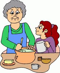 Baking cake clipart