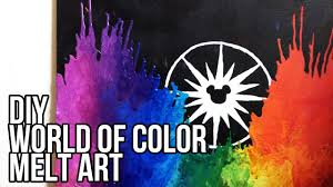 DIY Disneys World Of Color Melt Art