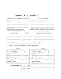 Quit Claim Deed Sample Or Outline The Structure Of A Form Free Blank