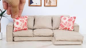 Barbie Living Room Furniture Diy by Diy Dollhouse Miniature Modern Sofa Tutorial Dolls Nendoroid