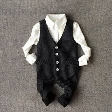 Image Is Loading Boys Trendy Outfits Kids Striped Vest Pants Child