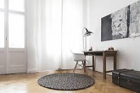 details zu myfelt otto 90 cm design braun teppich wolle filzkugelteppich kinder teppich