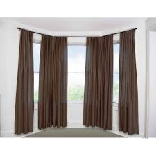 Living Room Curtains At Walmart by Bay Window Curtain Rod Set 5 8