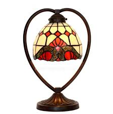 Tiffany Style Lamps Vintage by Vintage Baroque Stained Glass Shade Tiffany Style Lighting