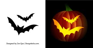Free Frankenstein Pumpkin Stencil Printables by Free Printable Bat Pumpkin Carving Patterns Design Templates