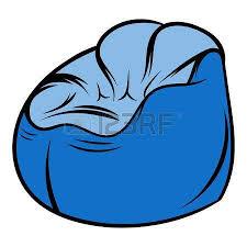 Flexible Chair Icon Cartoon Illustration
