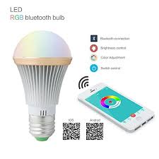 uxcell bluetooth smart led light bulb e27 led 5w rgbw multicolor