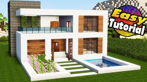 100 Image Of Modern House Minecraft Easy Tutorial Interior How To Build A