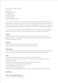 Free Business Analyst Resume Sample