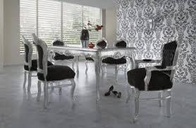 casa padrino barock esszimmer set schwarz silber silber