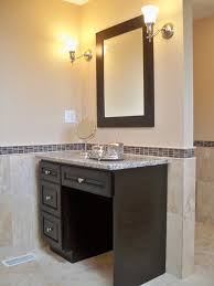 master bath with double vanity makeup vanity traditional