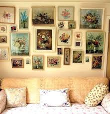 Granny Chic Floral Wall Art Wanna Try This One
