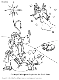 Coloring The Angel Telling Shepherds Good News