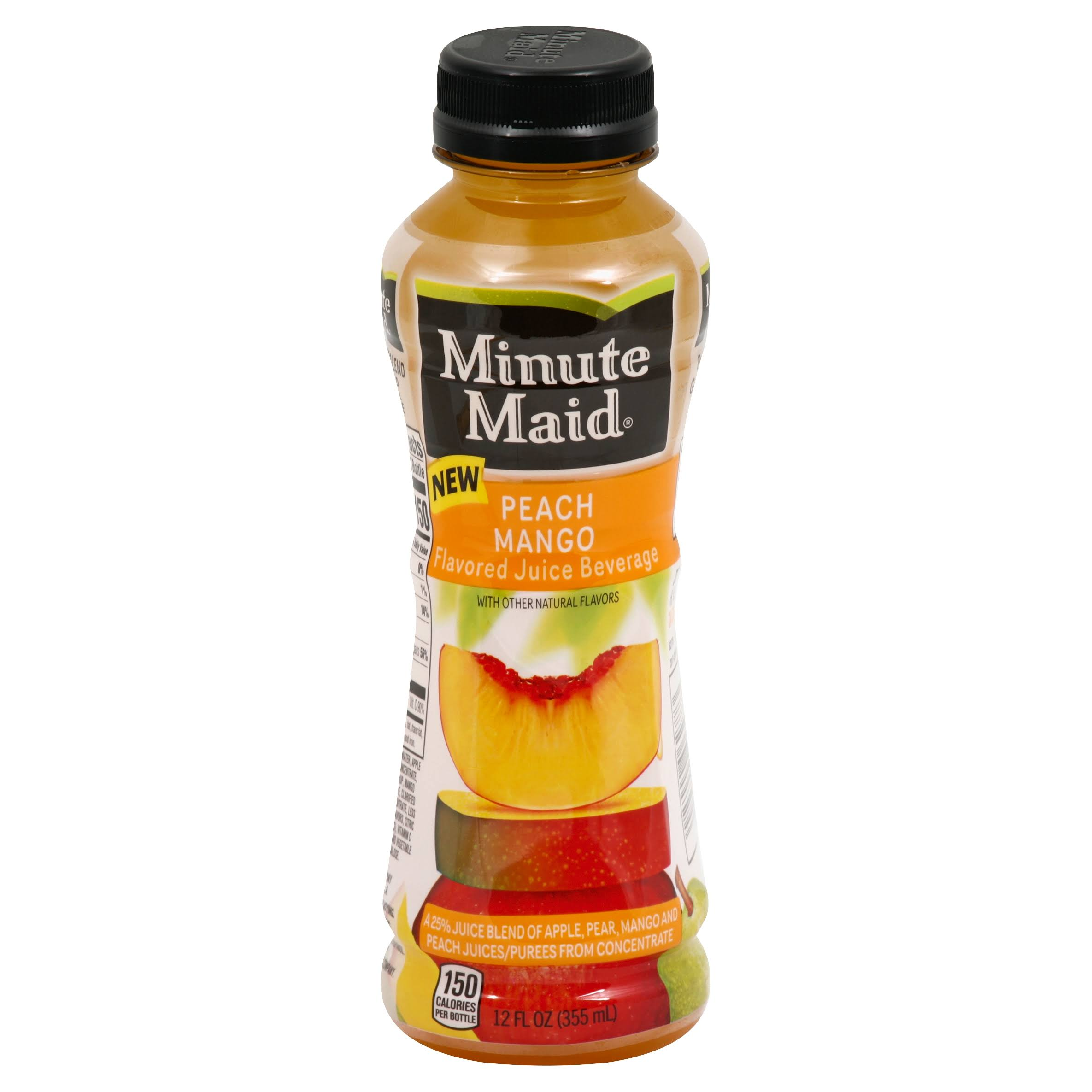 Minute Maid Juice Beverage, Flavored, Peach Mango - 12 fl oz