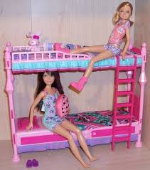 barbie sisters bunk bed stacie accessory set doll house nursery