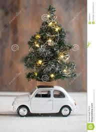 Christmas Tree On Top Of Toy Car