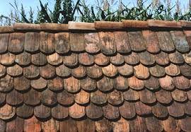 reclaimed flat and mission barrel roof tiles oak