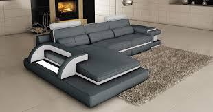 canapé design d angle deco in 2 canape d angle cuir gris et blanc design avec