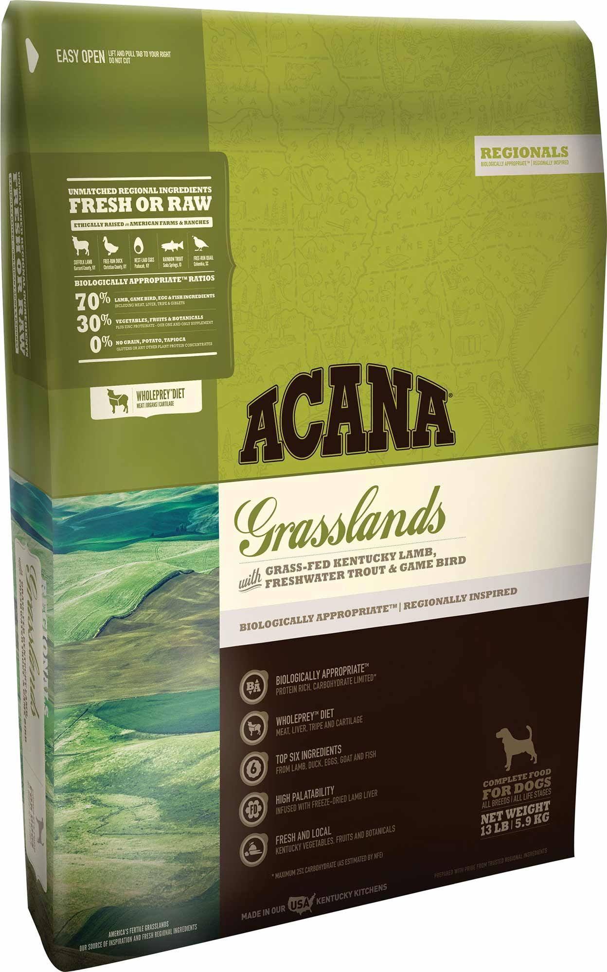 Acana Regionals Grasslands Dog Food - Dry, 13lb