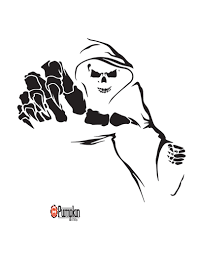 Printable Freddy Krueger Pumpkin Stencils by Grim Reaper Pumpkin Craze