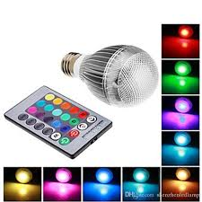 e27 rgb led l 9w ac100 240v led bulb l with remote