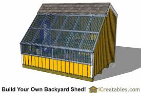Saltbox Shed Plans 10x12 by Wood Greenhouse Plans 10x12 Greenhouse Shed Plans Icreatables