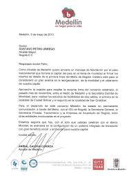 Carta Alcalde De Medellin By Bogotá Humana Issuu