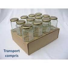 pots de confiture vides pots hexagonaux 283 ml couvercle au choix findapack