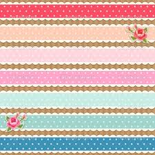 Shabby Chic Wallpaper Borders Beautiful Colorful Fabric Polka Dot Ribbons And Roses Picture 211