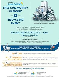 citywide community cleanup march 11 at qualcomm stadium