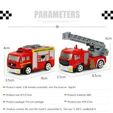 Amazon.com: Remote Control Fire Truck, ECLEAR Mini RC Rescue Fire ...
