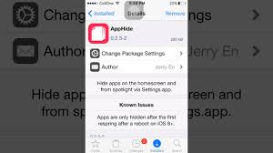 How to hide apps on ios 9 3 5 jailbreak
